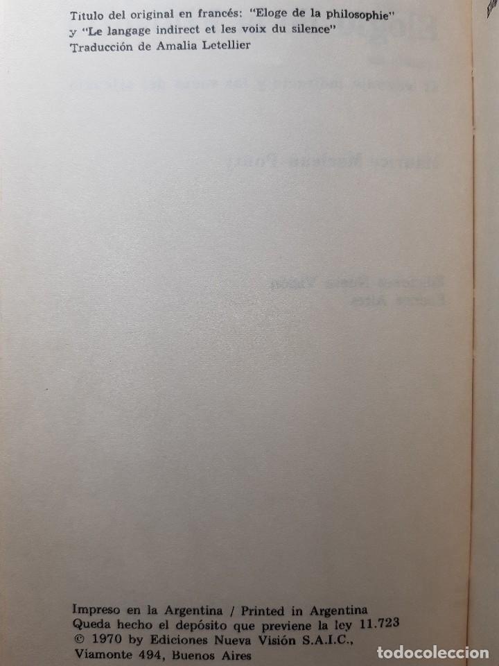 Libros de segunda mano: ELOGIO DE LA FILOSOFIA Maurice Merleau Ponty Buenos Aires 1970 - Foto 9 - 240337665