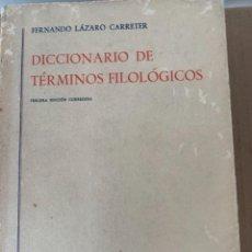 Libros de segunda mano: DICCIONARIO DE TÉRMINOS FILOLÓGICOS (BOL, 2). Lote 240406200
