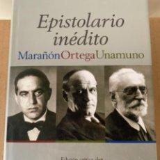 Libros de segunda mano: EPISTOLARIO INÉDITO, MARAÑÓN, ORTEGA, UNAMUNO. (BOL,2). Lote 240407090