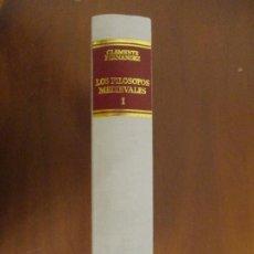 Libros de segunda mano: LOS FILÓSOFOS MEDIEVALES. VOL. 1. CLEMENTE FERNÁNDEZ. BIBLIOTECA DE AUTORES CRISTIANOS.. Lote 242205970
