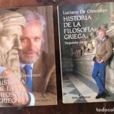 Libros de segunda mano: HISTORIA DE LA FILOSOFÍA GRIEGA I Y II. Lote 254267530