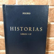 Libros de segunda mano: HISTORIAS. LIBROS I-IV. POLIBIO. Lote 243890490