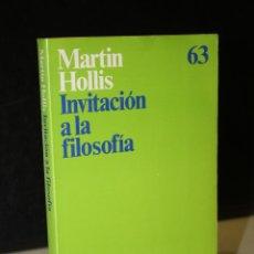 Libros de segunda mano: INVITACIÓN A LA FILOSOFÍA.- HOLLIS, MARTIN.. Lote 244570395