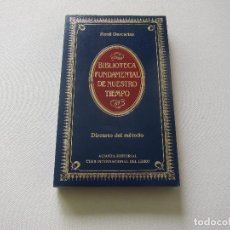 Libros de segunda mano: DISCURSO DEL MÉTODO - RENÉ DESCARTES (ED. ALIANZA). Lote 244590995