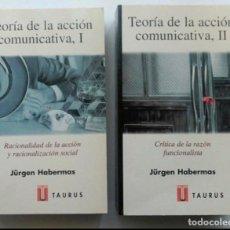 Libros de segunda mano: TEORÍA DE LA ACCIÓN COMUNICATIVA, 2VOL. HABERMAS. Lote 244601130