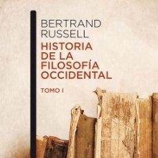 Libros de segunda mano: HISTORIA DE LA FILOSOFÍA OCCIDENTAL I. - RUSSELL, BERTRAND.. Lote 245349155