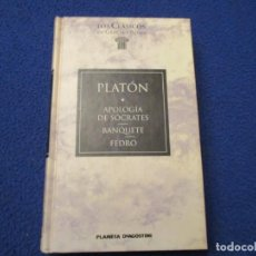 Libros de segunda mano: PLATÓN APOLOGIA DE SÓCRATES / BANQUETE / FEDRO. ED. PLANETA DEAGOSTINI 1995. Lote 246120355