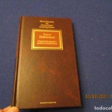 Libros de segunda mano: CONCIENCIA MORAL Y ACCION COMUNICATIVA JÜRGEN HABERMAS ED. PLANETA-AGOSTINI 1994. Lote 246608495