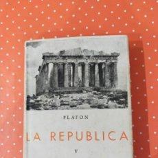 Libros de segunda mano: LA REPÚBLICA-PLATÓN. Lote 246892440