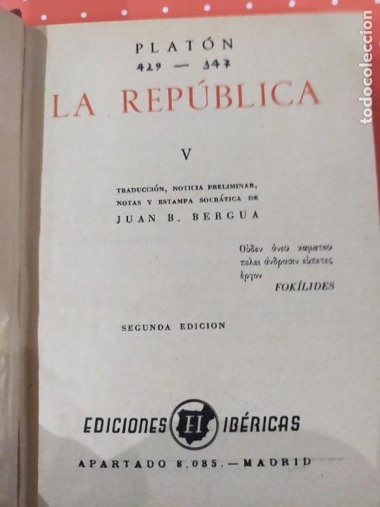 Libros de segunda mano: La República-Platón - Foto 2 - 246892440