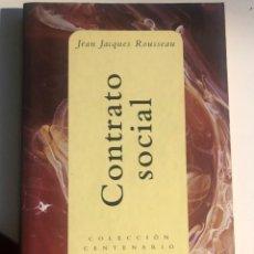 Libros de segunda mano: EL CONTRATO SOCIAL DE ROUSSEAU. Lote 247820740