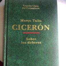 Libros de segunda mano: SOBRE LOS DEBERES DE CICERÓN. Lote 247820830