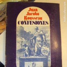 Libros de segunda mano: CONFESIONES DE ROUSSEAU. Lote 248407840