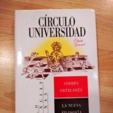 Livros em segunda mão: 'LA NUEVA FILOSOFÍA HERMENÉUTICA'. ANDRÉS ORTIZ-OSÉS. Lote 249019730