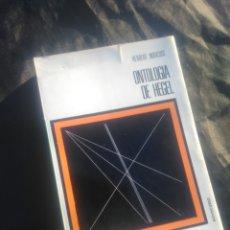 Libros de segunda mano: ONTOLOGÍA DE HEGEL. HERBERT MARCUSE.. Lote 249115200