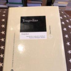 Libros de segunda mano: ESQUILO TRAGEDIAS. Lote 249172535