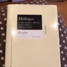 Libros de segunda mano: PLATON DIALOGOS. Lote 249172665