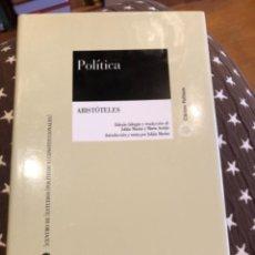 Libros de segunda mano: ARISTOTELES POLITICA. Lote 249173920