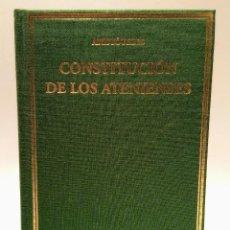 Libri di seconda mano: CONSTITUCION DE LOS ATENIENSES - ARISTOTELES - - CSIC - ALMA MATER - 2012. Lote 249271650