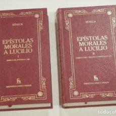 Libri di seconda mano: SENECA - EPISTOLAS MORALES A LUCILIO - 2 VOLS COMPLETO - BIBLIOTECA BASICA GREDOS. Lote 251008525