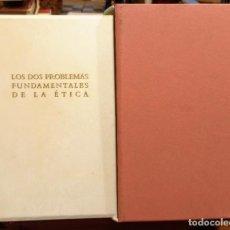 Libros de segunda mano: ARTHUR SCHOPENHAUER - LOS DOS PROBLEMAS FUNDAMENTALES DE LA ETICA - BERLUSCONI EDITOR - 2008. Lote 252369265