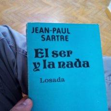 Libros de segunda mano: EL SER Y LA NADA. JEAN-PAUL SARTRE. Lote 252980185