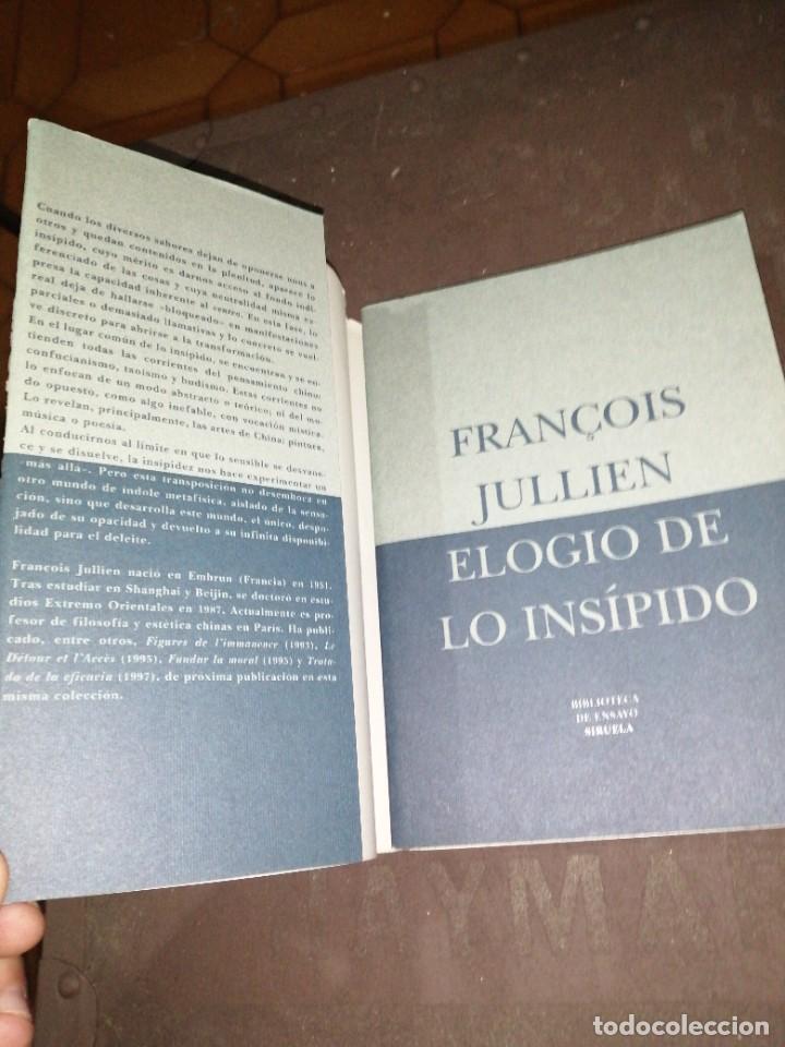 Libros de segunda mano: François Jullien , elogio de lo insípido - Foto 2 - 253196815
