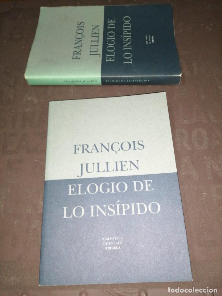 Libros de segunda mano: François Jullien , elogio de lo insípido - Foto 6 - 253196815