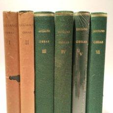 Libros de segunda mano: OBRAS - 6 TOMOS - COMPLETO - LUCIANO - ALMA MATER - CSIC. Lote 254189565