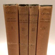 Libros de segunda mano: VIDA DE LOS DOCE CESARES - 4 TOMOS - COMPLETO - SUETONIO - ALMA MATER - HISPANICA. Lote 254192830