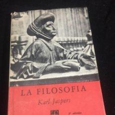 Livros em segunda mão: LA FILOSOFÍA DESDE EL PUNTO DE VISTA DE LA EXISTENCIA. KARL JASPERS BREVIARIOS, 1962 FCE MÉXICO. Lote 254558410