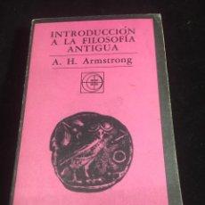 Libri di seconda mano: INTRODUCCION A LA FILOSOFIA ANTIGUA EUDEBA 1973 A.H. ARMSTRONG. Lote 254680195