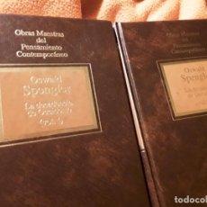 Libros de segunda mano: LA DECADENCIA DE OCIDENTE (2 VOL), DE OSWALD SPENGLER. TAPA DURA. OBRAS MAESTRAS DEL PENSAMIENTO C. Lote 254205955