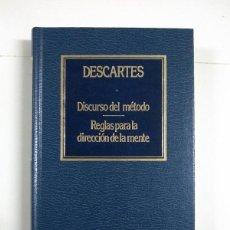 Libros de segunda mano: DISCURSO DEL MÉTODO. REGLAS PARA LA DIRECCIÓN DE LA MENTE - RENÉ DESCARTES. Lote 255023315