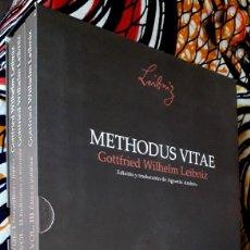 Libri di seconda mano: GOTTFRIED WILHELM LEIBNIZ . METHODUS VITAE I-II-III . OBRA COMPLETA. Lote 256060355