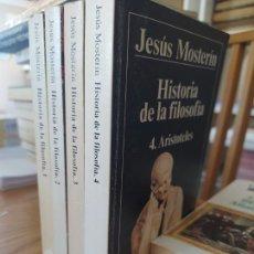 Libros de segunda mano: HISTORIA DE LA FILOSOFÍA, JESÚS MOSTERIN, ED. ISTMO, 1994 OBRA COMPLETA. TAPA BLANDA, BUEN ESTADO.. Lote 261685700