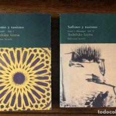 Libros de segunda mano: SUFISMO Y TAOISMO. TOSHIHIKO IRUTSU. 2 VOLÚMENES. EDITORIAL SIRUELA. Lote 261988280