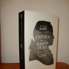 Libros de segunda mano: CRÍTICA DE LA RAZÓN PURA - IMMANUEL KANT / PEDRO RIBAS (ED.) - TAURUS, MUY BUEN ESTADO. Lote 261988760
