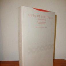Libros de segunda mano: GUÍA DE PERPLEJOS - MAIMÓNIDES - TROTTA, MUY BUEN ESTADO. Lote 261989575