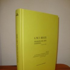 Libros de segunda mano: FILOSOFÍA DEL ARTE O ESTÉTICA - G. W. F. HEGEL - ABADA, MUY BUEN ESTADO. Lote 261994595