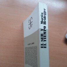 Libri di seconda mano: EL SER Y EL TIEMPO. MARTIN HEIDEGGER. Lote 262036315