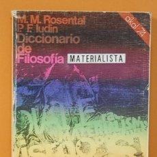 Libros de segunda mano: DICCIONARIO DE FILOSOFÍA. ROSENTAL / LUDIN. AKAL EDITOR, 1975. Lote 262297685