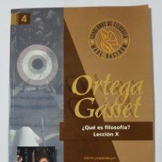 Libros de segunda mano: ORTEGA Y GASSET. QUÉ ES FILOSOFÍA. LECCIÓN X. CUADERNOS MARE NOSTRUM. Lote 262317800
