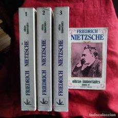 Libros de segunda mano: OBRAS INMORTALES. 4 TOMOS - NIETZSCHE, FRIEDRICH. Lote 262766020