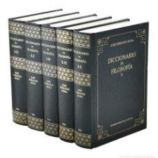 Libros de segunda mano: DICCIONARIO DE FILOSOFÍA, I-II-III-IV-V (EDICIÓN COMPLETA EN 5 TOMOS) - FERRATER MORA, JOSÉ. Lote 262935775