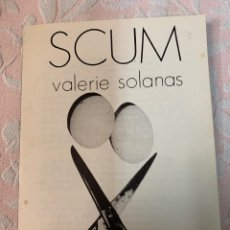 Libros de segunda mano: SCUM,VALERIE SOLANAS. Lote 262947575