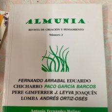 Libros de segunda mano: ALMUNIA, REVISTA DE CREACIÓN Y PENSAMIENTO, NÚMERO DOS. Lote 263060710