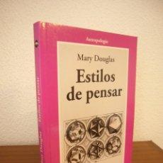 Libri di seconda mano: MARY DOUGLAS: ESTILOS DE PENSAR (GEDISA, 2008) EXCELENTE ESTADO. Lote 264676989