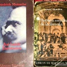Libros de segunda mano: LOTE 2 LIBROS HISTORIA SENCILLA DE LA FILOSOFIA - ASI SE HABLA ZARATUSTRA NIETZSCHE RAFAEL GAMBRA. Lote 264781089