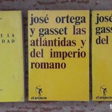 Libros de segunda mano: LOTE TRES LIBROS ORTEGA Y GASSET. Lote 266538873